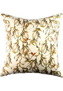 Capa De Almofada Floral- Bege & Bege Escuro- 42X42Cmstm Home