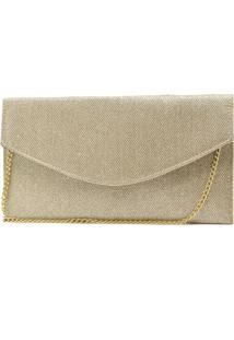 Bolsa De Festa Hendy Bag Envelope Glitter Dourado
