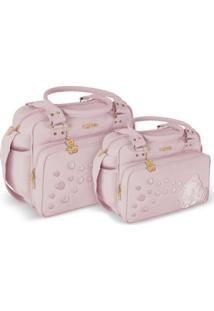 Kit Bolsa Griff Bebê Rosa Kit Maternidade Enxoval Menina 20Ol11 - Tricae