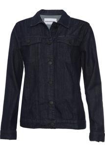 Jaqueta Jeans Calvin Klein Jeans Trucker Azul-Marinho