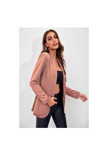 Blazer Feminino Acinturado Premium-Feminino - Rose