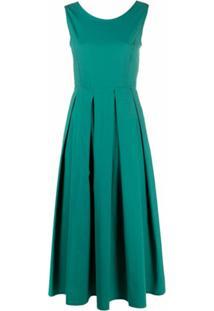 Seventy Vestido Evasê Com Detalhe De Laço - Verde