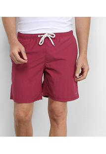 Shorts Gajang Liso Masculino - Masculino-Vinho