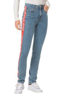 0d162dd1ebb51f Calvin Klein Calça Jeans Five Pockets Ckj 020 High Rise Slim - Azul Médio  Calça Jeans Five Pocktes High Rise Slim Ckj 020 High Rise Slim - Azul ...