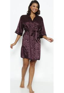 Robe Curto Com Amarração- Roxafruit De La Passion