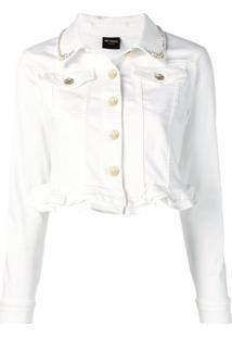 Twin-Set Jaqueta Jeans Cropped - Branco