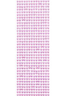 Adesivo Meia Pérola 6Mm Cartela Com 504 Unidades Rosa