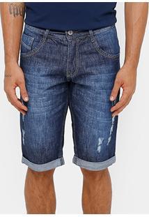 Bermuda Jeans Biotipo Rasgos Masculina - Masculino