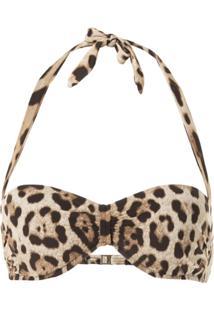 Dolce & Gabbana Sutiã De Biquíni Com Estampa De Leopardo - Marrom