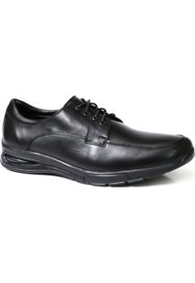 Sapato Social Confort Solado Gel Couro - Masculino