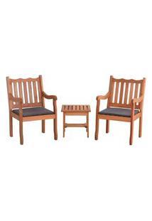 Conjunto 2 Cadeiras Nebel + Mesa De Centro - Preto