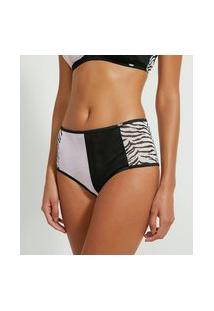 Calcinha Hot Pants Em Tule Estampa Animal Print