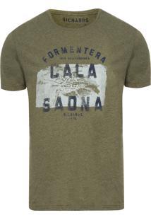 T-Shirt Masculina Mescla Geko - Verde