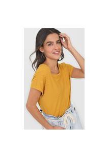 Blusa Hering Canelada Amarela