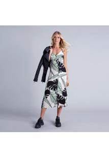 Vestido Com Alças Mídi Botões Echo - Lez A Lez