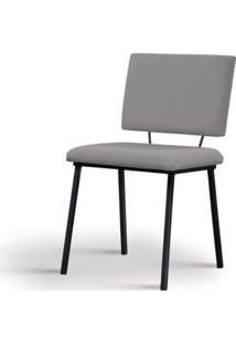 Cadeira Preciosa Cinza Base Preta - 55857 Sun House