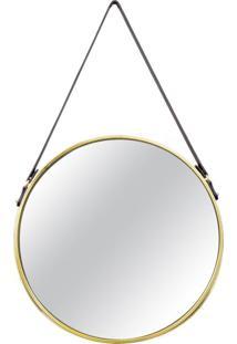 Espelho Redondo Decorativo 36 Cm Dourado