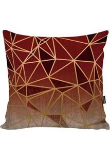 Capa De Almofada New Geometric- Vermelha & Bordô- 45Stm Home