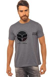Camiseta Chumbo Estampada Masculina Joss - Eco