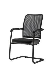 Cadeira Soul Assento Em Courissimo Base Fixa Preta - 54252 Preto