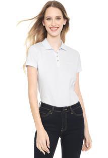 Camisa Polo Calvin Klein Jeans Reta Lisa Branca