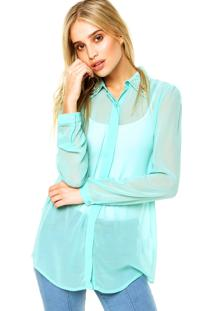 Camisa Mooncity Pedraria Verde