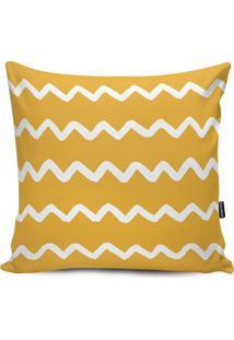 Capa Para Almofada Impermeável Geometric- Amarela & Branstm Home