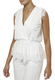 Blusa Regata Autentique Feminina - Feminino-Off White