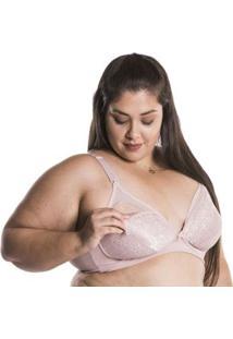 Sutiã Plus Size Amamentação Nayane Rodrigues - Feminino-Nude