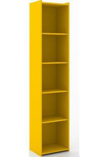 Estante Com 4 Prateleiras 206 Biblioteca Retrô - Movelbento - Amarelo