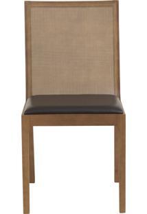 Cadeira Bete - Couro Preto