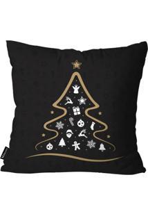 Capa Para Almofada Mdecor De Natal Preto