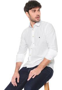 Camisa Malwee Slim Básica Branca
