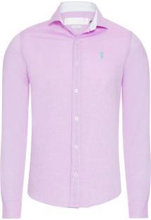 Camisa Masculina Oxford - Rosa