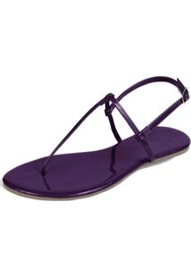 Rasteira Mercedita Shoes Verniz Uva