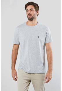 Camiseta Gota Pica-Pau Bordado Reserva Masculina - Masculino-Cinza