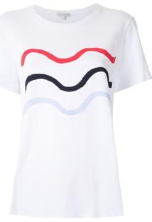 Alcaçuz Blusa Marieta Com Estampa - Branco