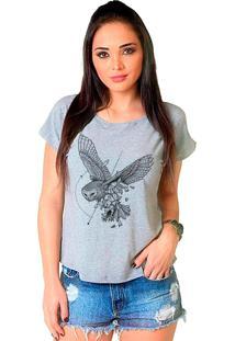 Camiseta Shop225 Coruja Geométrico Mescla