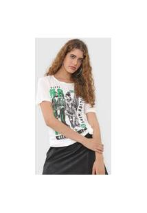 Camiseta Colcci Rock Style Off-White