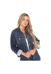 Jaqueta Bloom Jeans De Moletom Azul