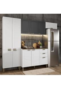 Cozinha Completa 4 Peças Americana Multimóveis 5683 Branco/Grafite