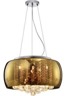 Pendente/Plafon Dourado Soho 50Cm Pd001G Bella