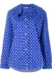 Marni Blusa Com Padronagem - Azul