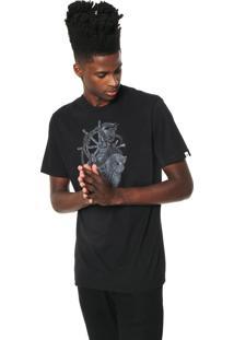 Camiseta Mcd Estampada Preta