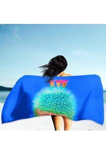 Toalha De Praia / Banho Cacto Blue