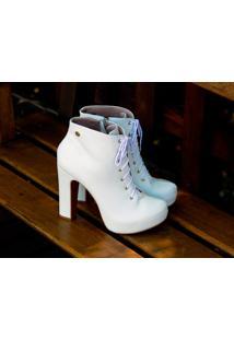 Ankle Boot Dm Extra Branca Dme179447 Numeração Especial 41 42 43