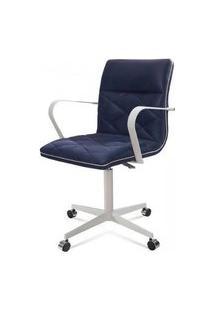 Cadeira Office Mark Azul Base Aco Fendi 87Cm - 61285 Azul