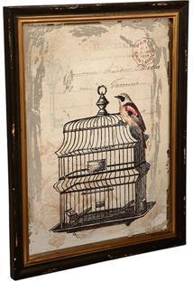 Quadro Decorativo De Parede Uccello Com Moldura