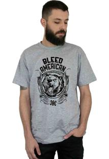 Camiseta Bleed American Grizzly Cinza Mescla