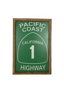 Quadro Decorativa Quarto Sala Pacific Coast 20X30Cm Verde